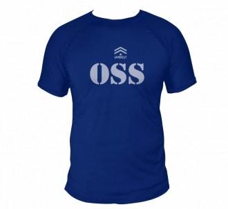 Camisa Jiu Jitsu OSS - Dry Fit UV50+ Azul
