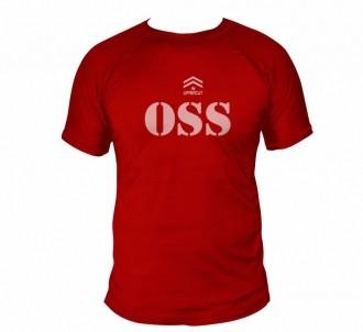 Camisa Jiu Jitsu OSS - Dry Fit UV-50+ - Vermelha