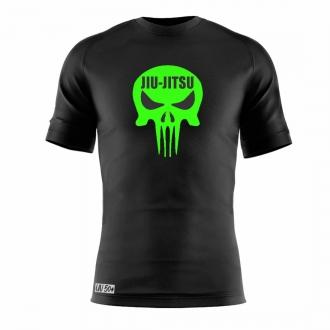 Camisa Jiu Jitsu Skull  Dry Fit UV-50+ - Preta/Verde