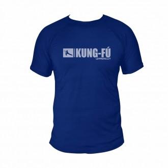 Camisa Kung Fu HZT Treino - Dry Fit UV50+ - Azul
