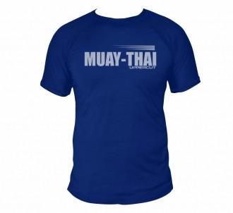 Camisa Muay Thai HZT Treino - Dry Fit UV50+ - Azul