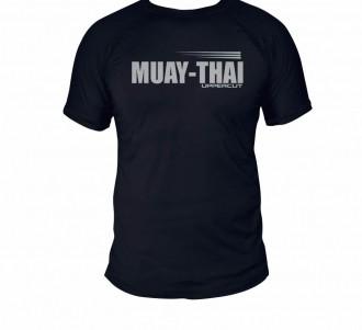 Camisa Muay Thai HZT Treino - Dry Fit UV50+ - Preta