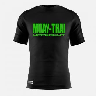 Camisa Muay Thai HZT Treino - Dry Fit UV50+ - Preta/Verde