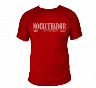 Camisa Muay Thai Kick Nocauteador - Dry Fit UV50+ - Vermelha