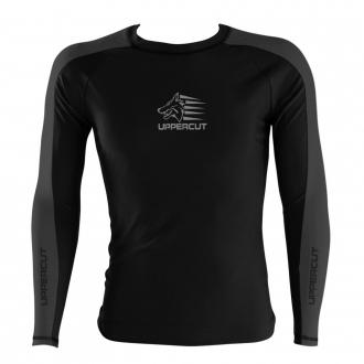 Camisa Rash Guard No Gi Jiu JItsu - Lobo - Preto/Cinza