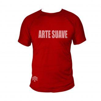 Camiseta Jiu Jitsu Arte Suave - Treino Dry Fit UV-50+ - Verm