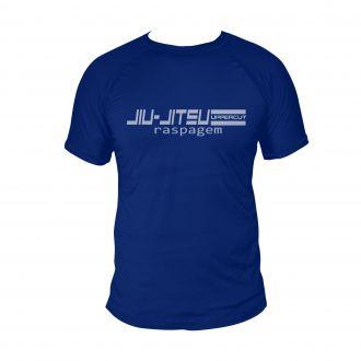 Camiseta Jiu Jitsu Raspagem - Treino Dry Fit UV-50+ - Azul