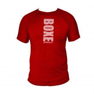 Camiseta Boxe Vertical - Treino Dry Fit UV50+ - Vermelha