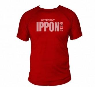 Camiseta Ippon Judo Treino e Passeio Dry Fit UV50+ Vermelha