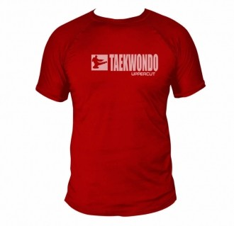 Camiseta Taekwondo HZT Dry Fit UV50+ Vermelha - Uppercut