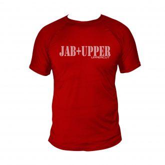 Camiseta Jab+Upper Boxe Muay Thai - Dry Fit UV50+ Verm