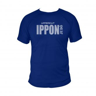 Camiseta Ippon Judo - Treino e Passeio Dry Fit UV50+ Azul