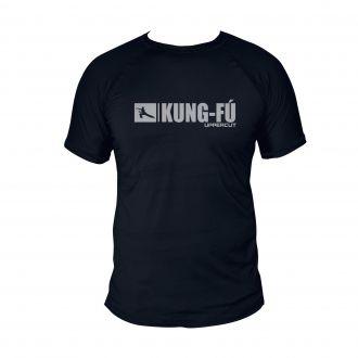 Camiseta KungFu U-188 - Treino Passeio Dry Fit UV50+ Preta