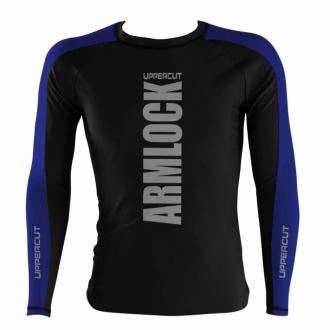 Camisa Rash Guard No Gi Jiu JItsu Armlock R-11 - Preto/Azul