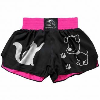 Short Muay Thai Kickboxing 2 Pets - U-160 - Pre/Rosa