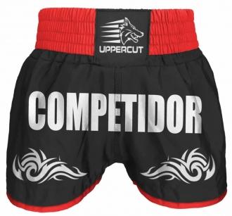 Short Muay Thai Kickboxing Competidor Tribal - Preto/Verm