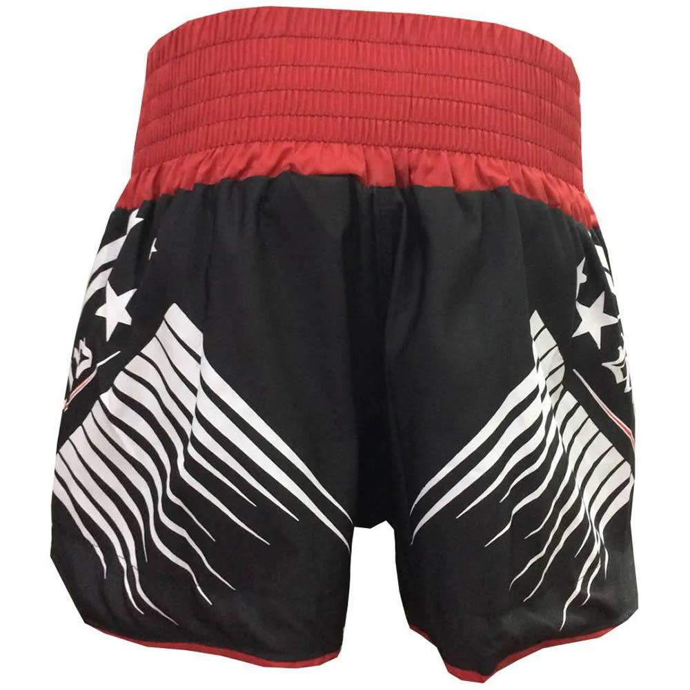 Calção Short Kickboxing Glory - Preto/Vermelho