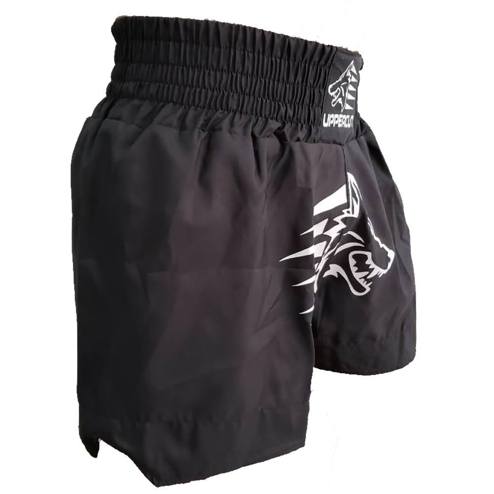 Calção Short Muay Thai Kickboxing Big Black Wolf - Preto