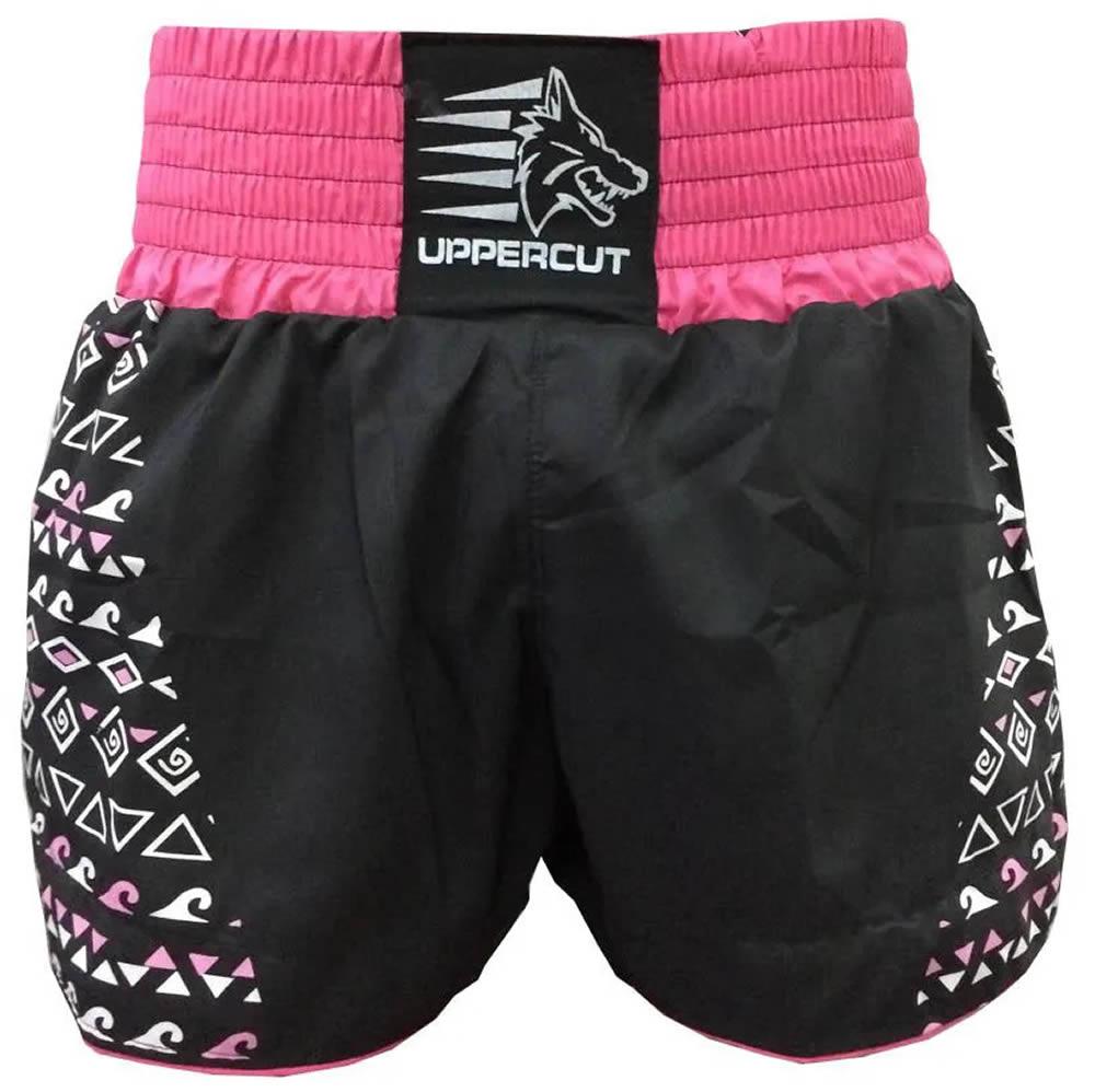 Calção Short Muay Thai Kickboxing Maori - Preto/Rosa