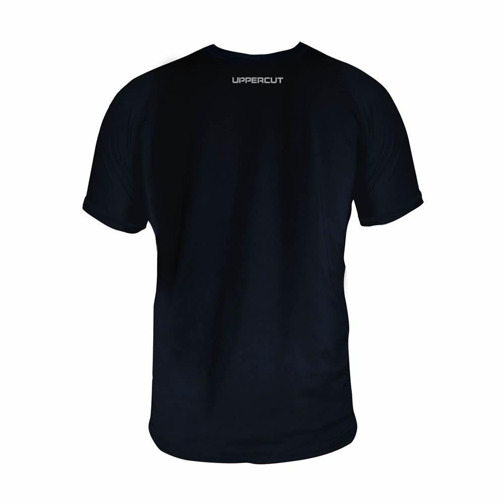 Camisa Boxe Muay Thai Jab+Upper - Dry Fit UV-50+ - Preta