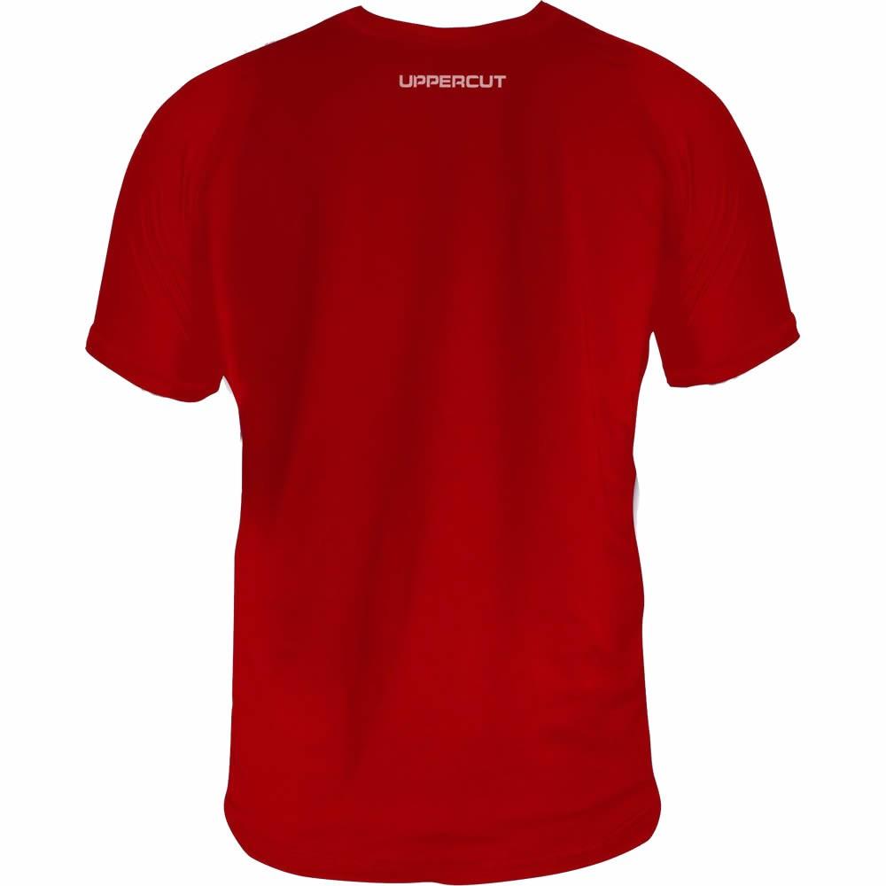 Camisa Jiu Jitsu Vertical Treino - Dry Fit UV-50+ - Vermelha