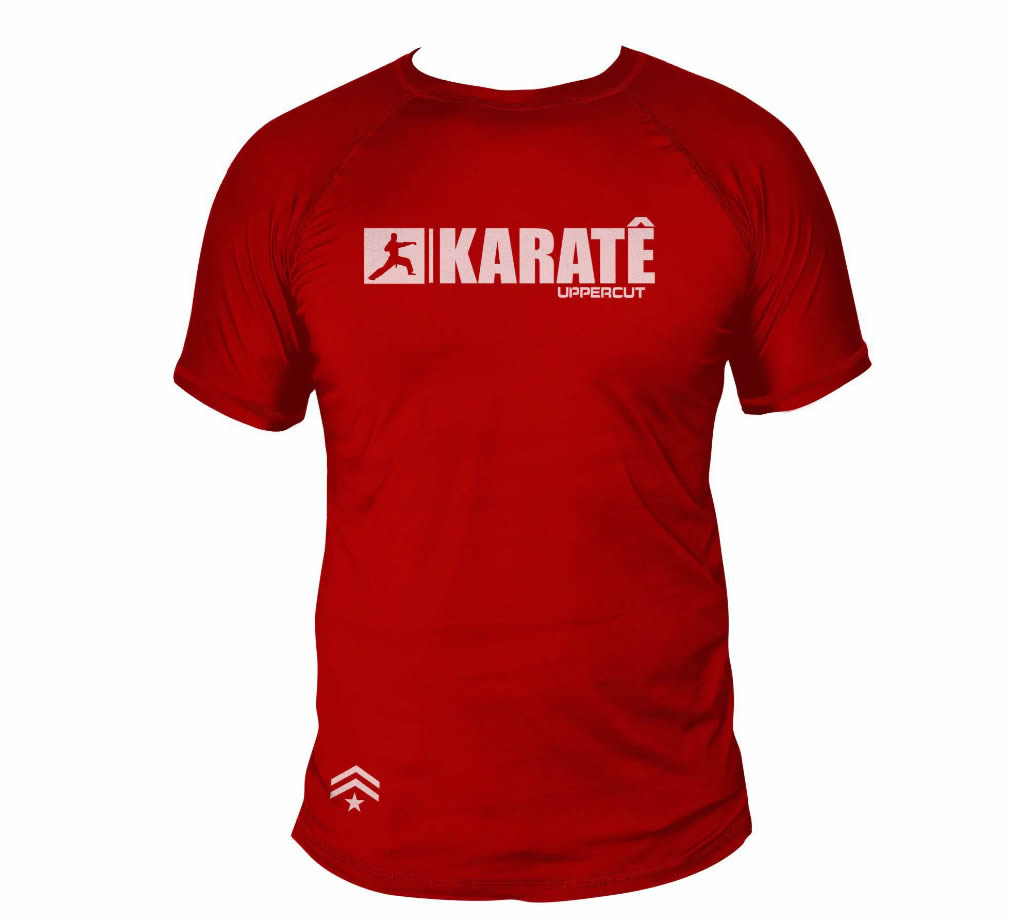 Camisa Karate HZT Treino - Dry Fit UV-50+ - Vermelha
