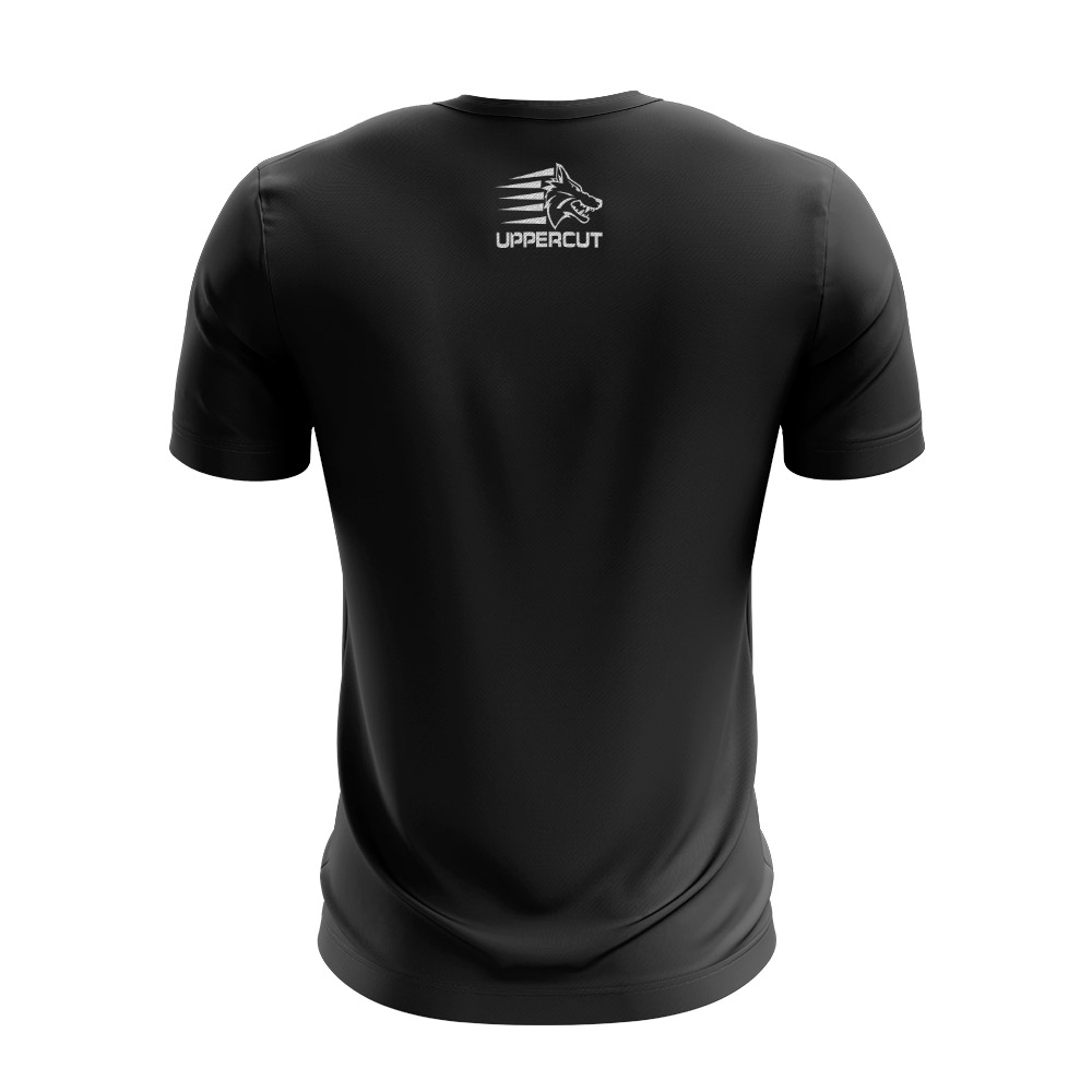 Camisa Muay Thai Caveira Tribal VTC - Dry Fit UV-50+ - Preta