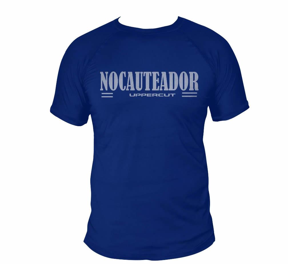 Camisa Muay Thai Kick Nocauteador - Dry Fit UV50+ - Azul