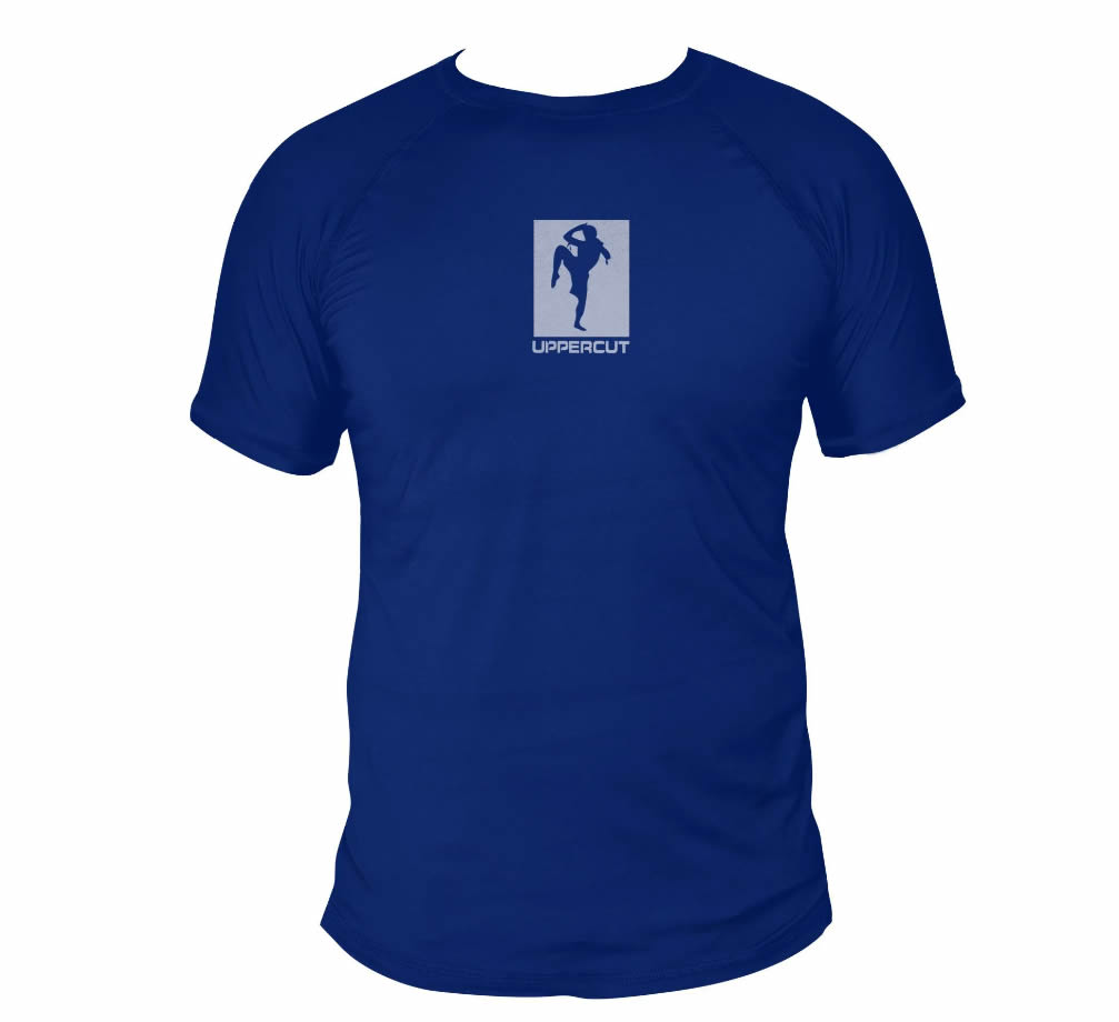 Camisa Muay Thai Kickboxing Knee Dry Fit UV-50+ - Azul