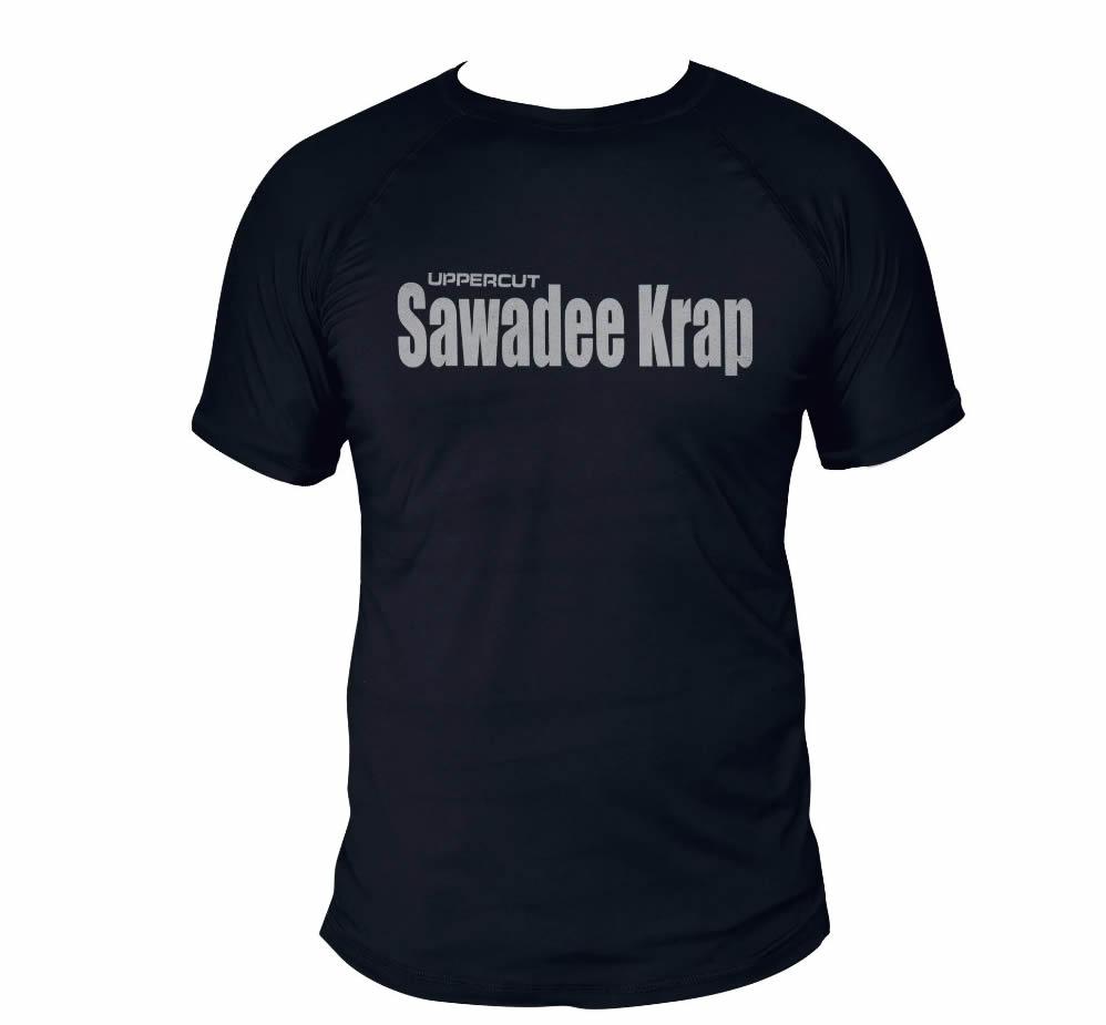 Camisa Muay Thai Sawadee Krap - Dry Fit UV50+ Preta