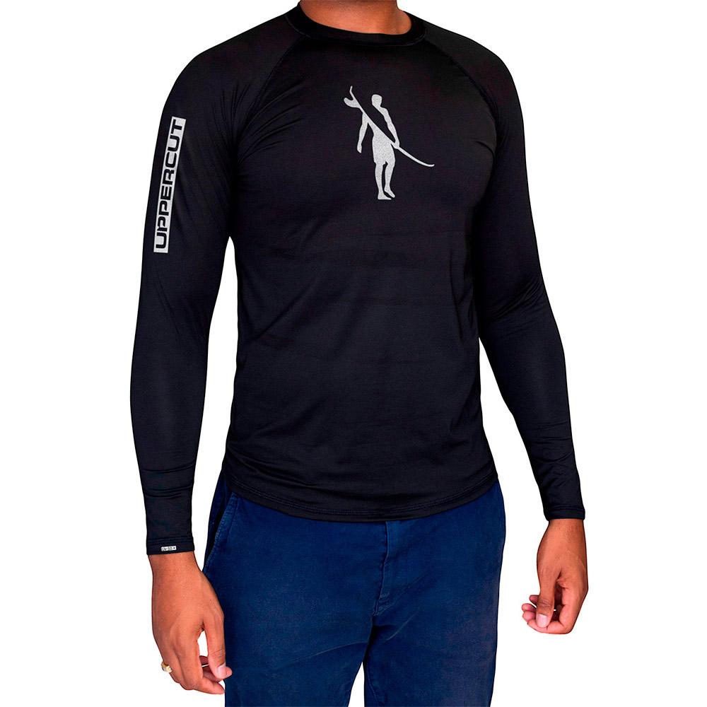 Camisa Proteção Solar U-009 ML - Praia Surf UV50+ - Preta