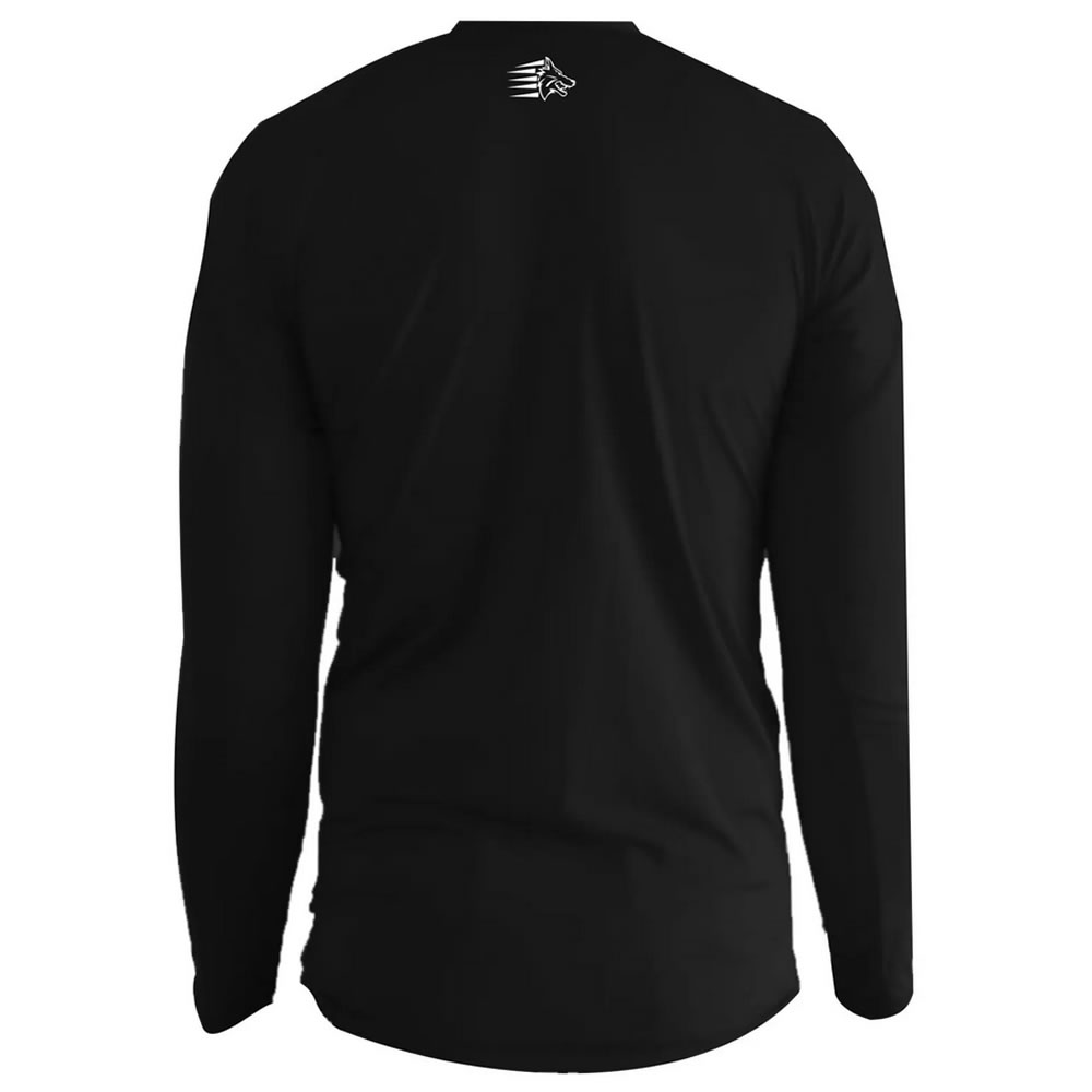 Camisa Proteção Solar UV50+ ML - Jiu Jitsu War - Preta