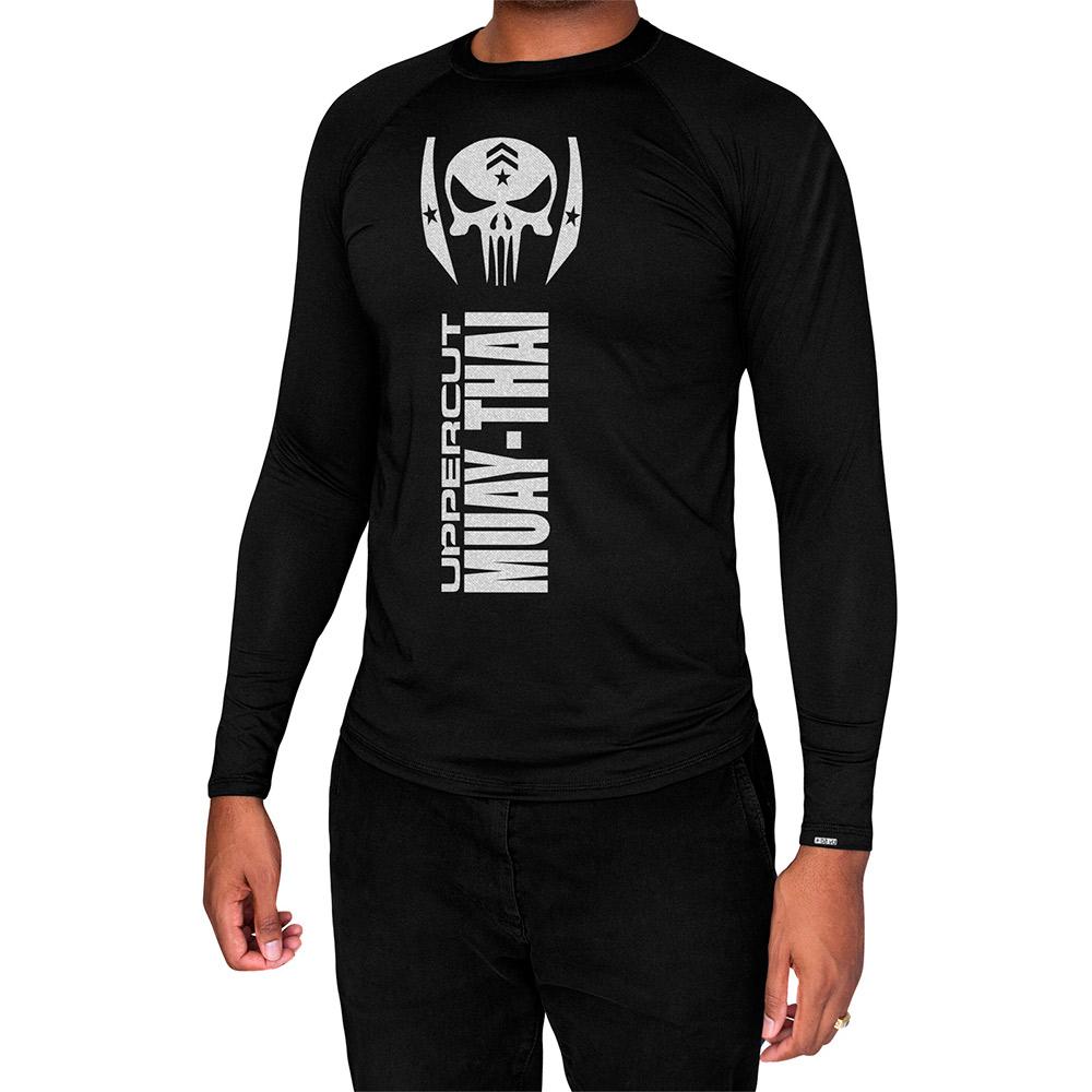 Camisa Proteção Solar UV50+ ML - Muay Thai War - Preta