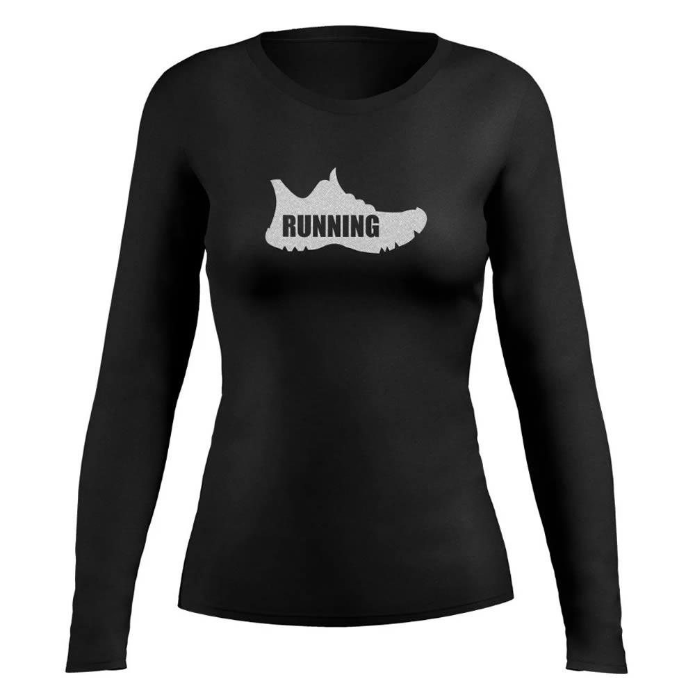 Camisa Proteção Solar UV50+ Running Shoes BC ML - Feminina