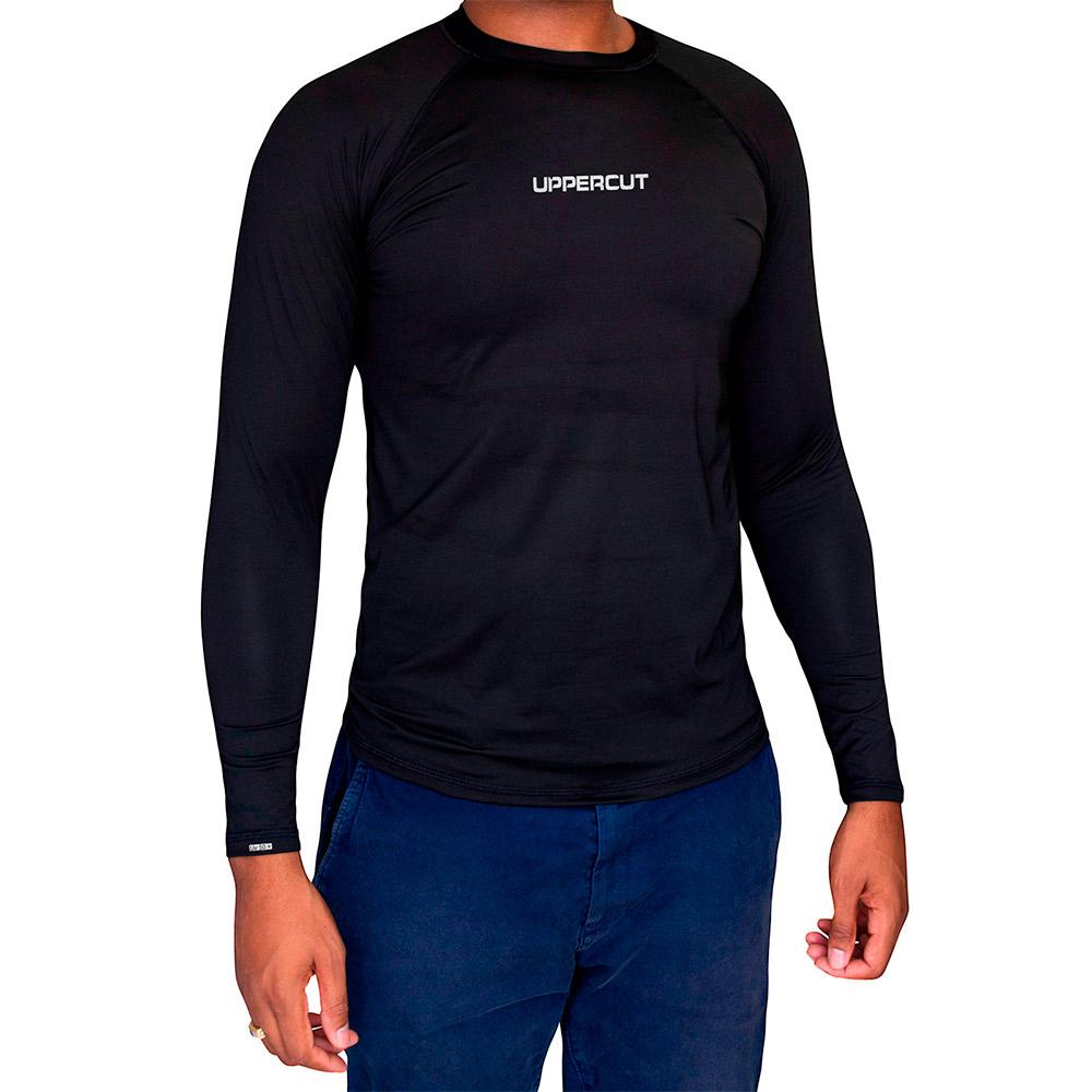 Camisa Proteção Solar UV 50+ ML - Praia Piscina Lisa - Preta