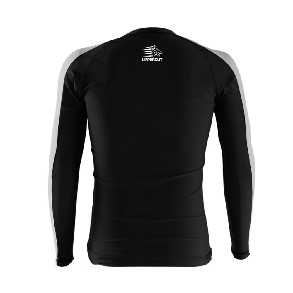 Camisa Rash Guard No Gi Jiu JItsu Armlock R-9 - Preto/Branco