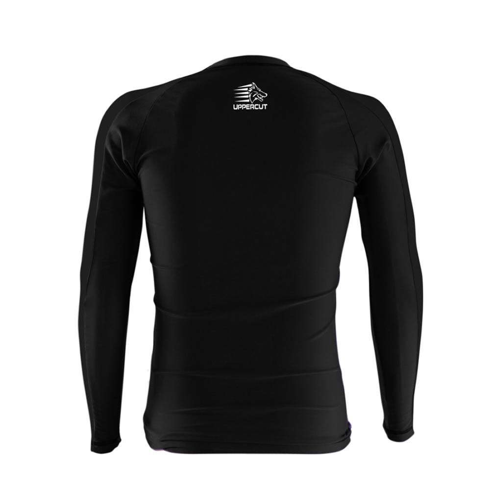 Camisa Rash Guard No Gi Jiu JItsu HZT R-16 - Preta