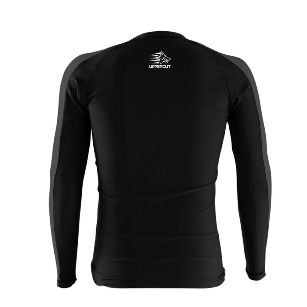 Camisa Rash Guard No Gi Jiu JItsu HZT R-18 - Preto/Cinza