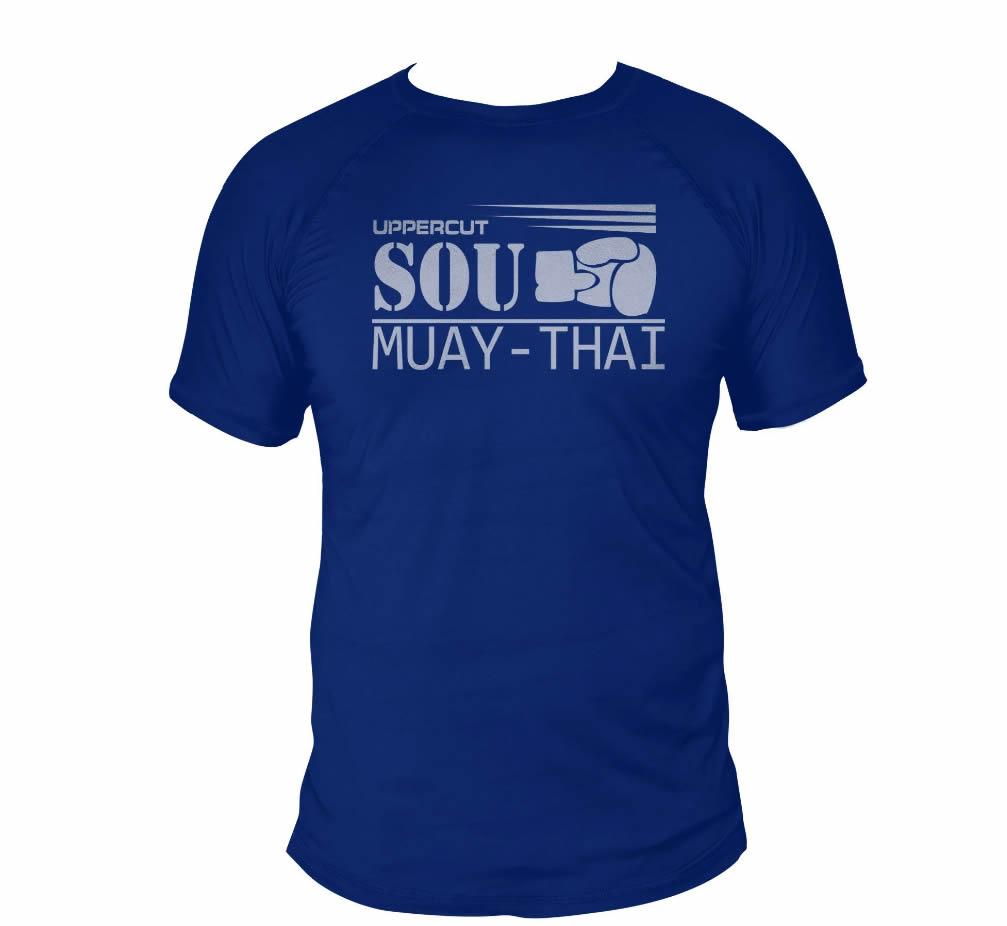 Camisa Sou Muay Thai Dry Fit UV50+ Azul - Uppercut