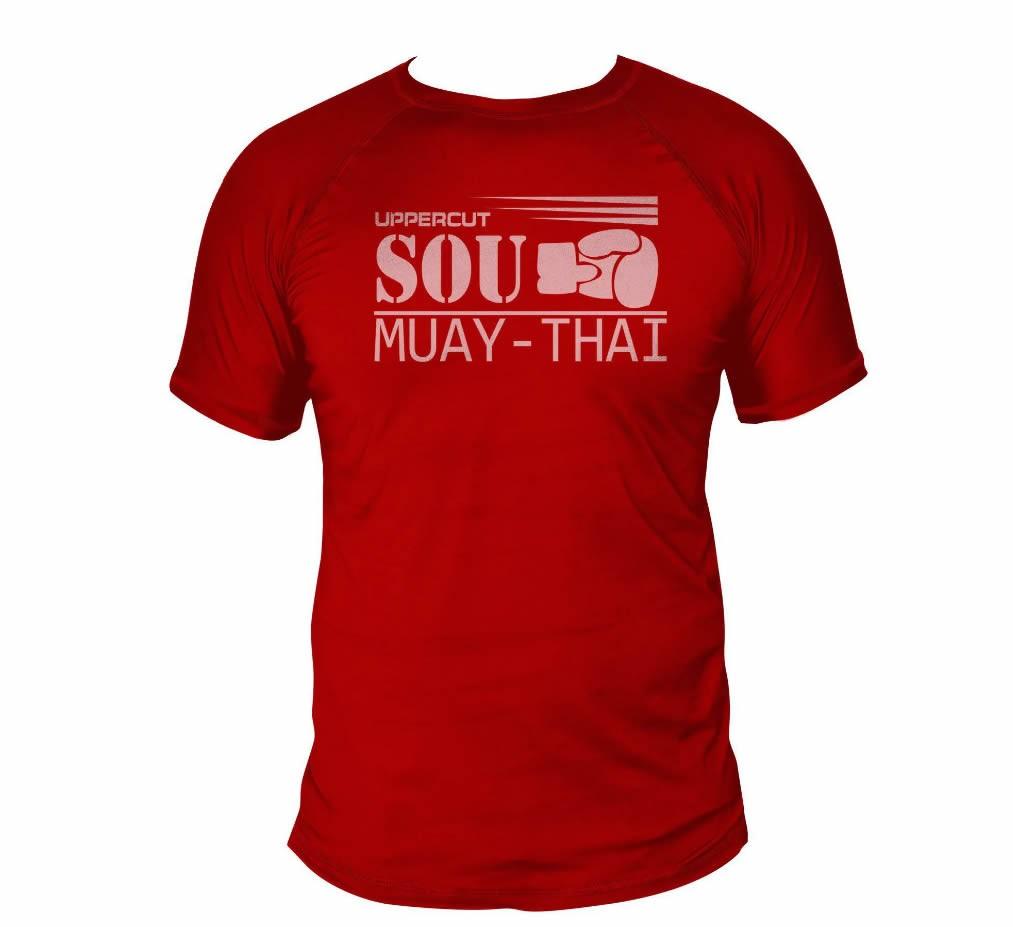 Camisa Sou Muay Thai Dry Fit UV-50+ - Vermelha