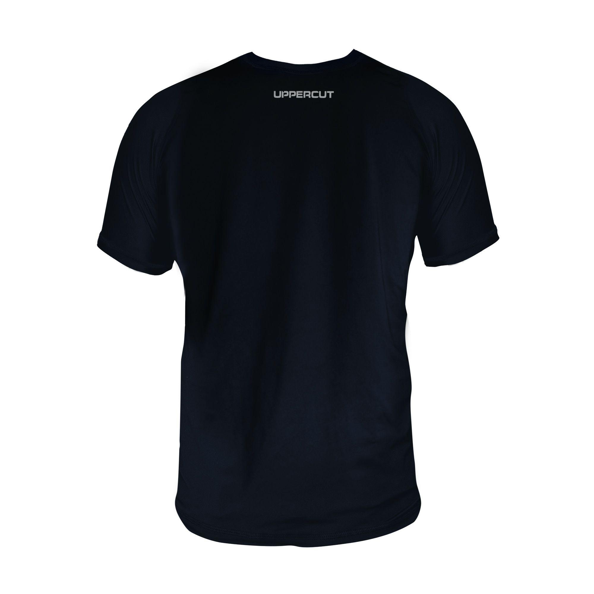 Camiseta Marcial Boxe Vertical Treino Dry Fit UV-50+ - Preta