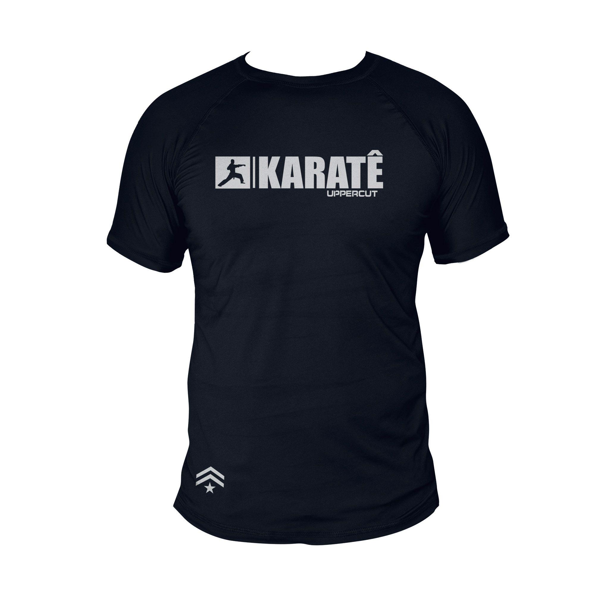Camiseta Karate U-xx - Treino Passeio Dry Fit UV50+ - Preta