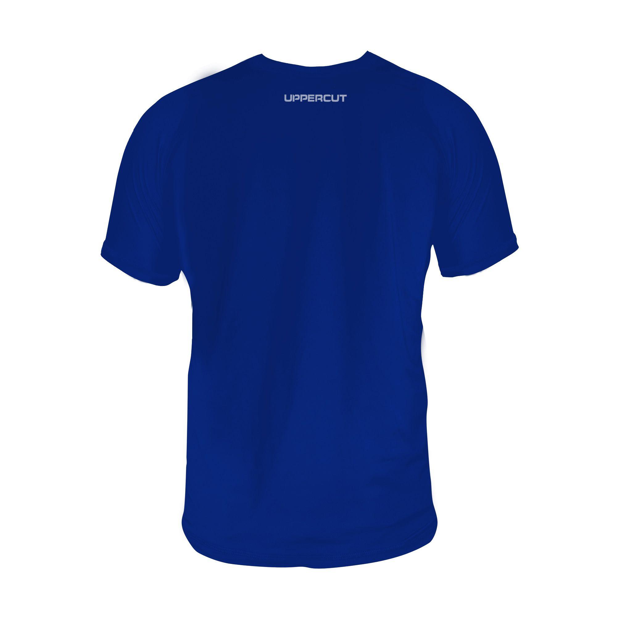 Camiseta Capoeira Ginga U-159 - Treino Dry Fit UV50+ Azul