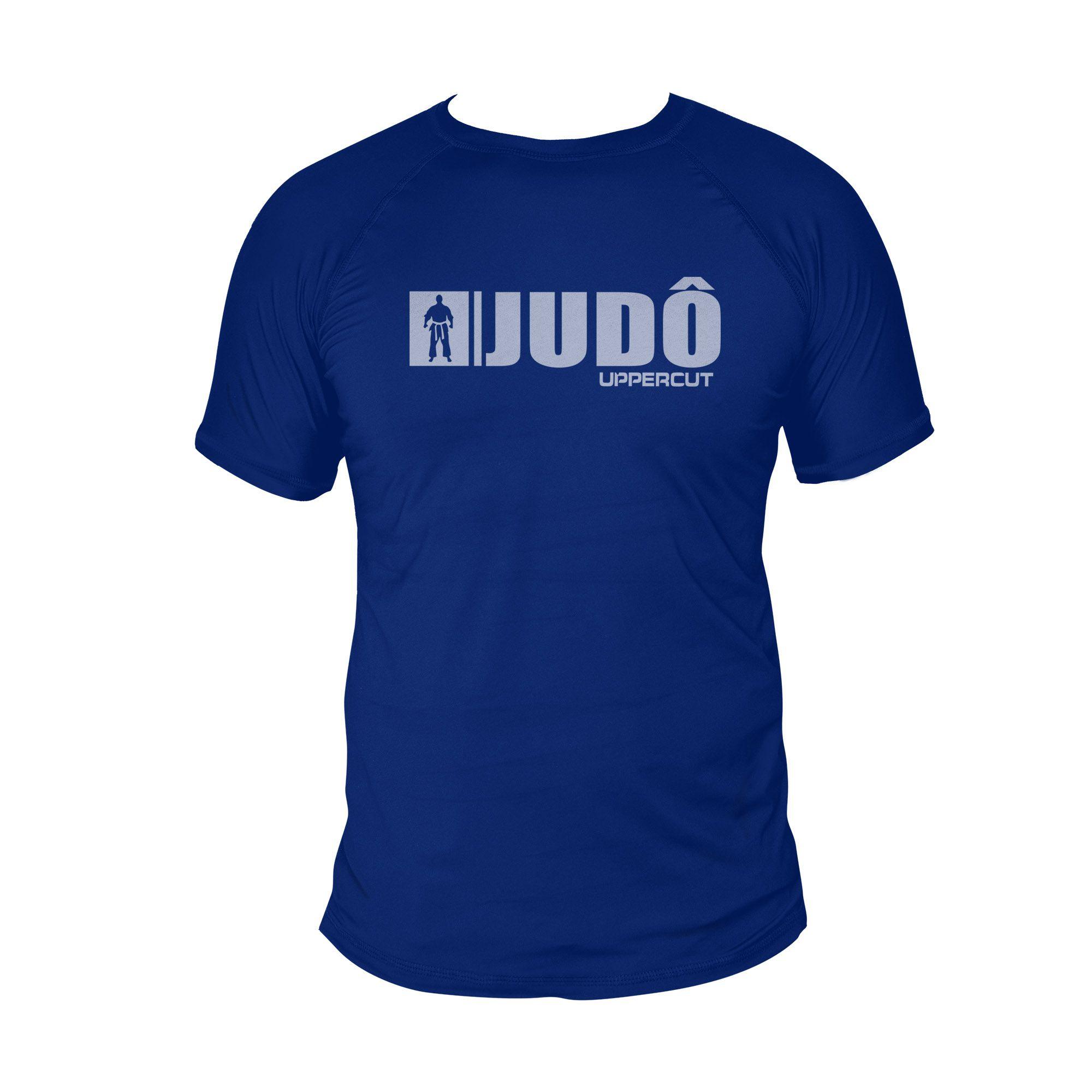 Camiseta Judo U-xx - Treino Passeio Dry Fit UV50+ - Azul