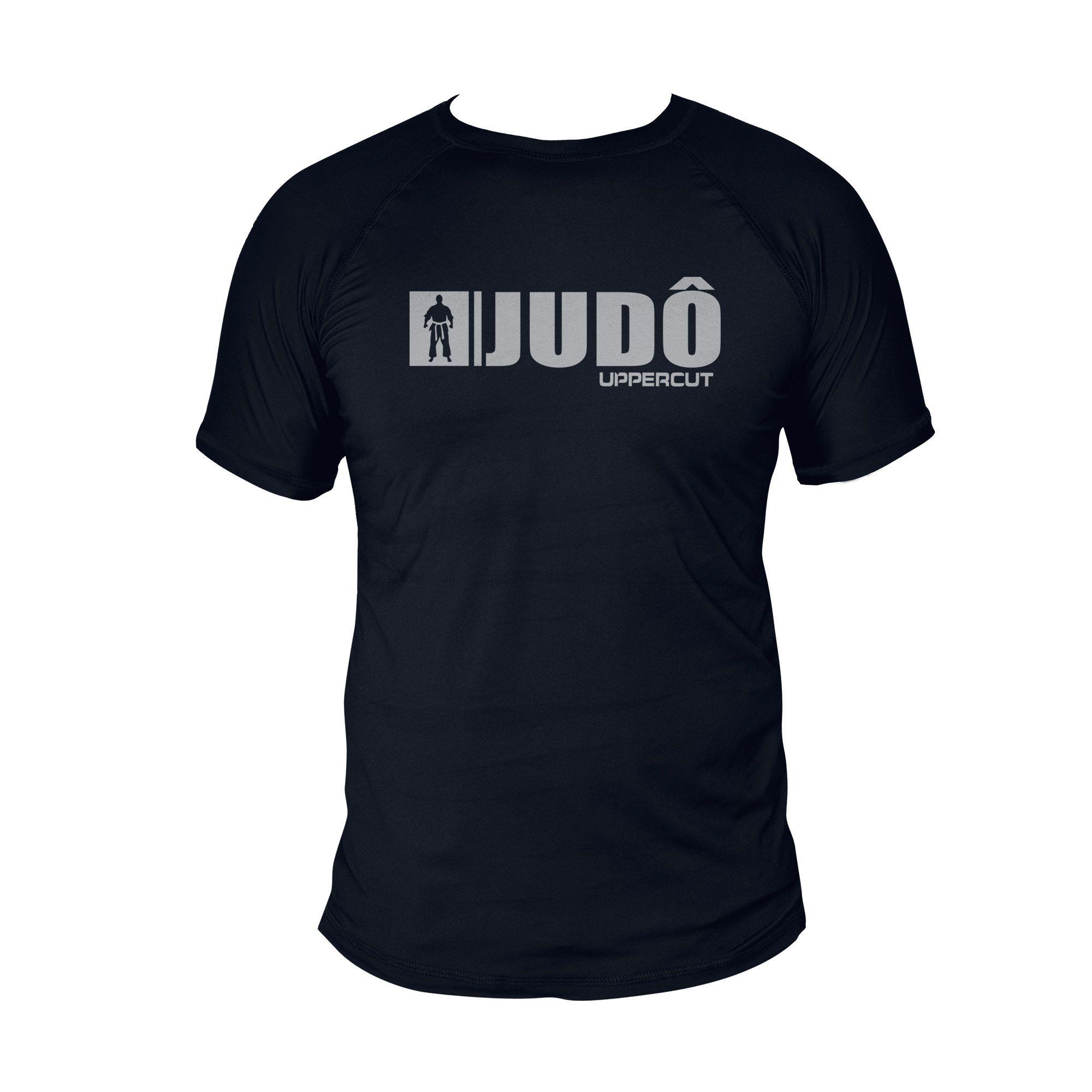 Camiseta Judo U-093 - Treino Passeio Dry Fit UV50+ - Preta