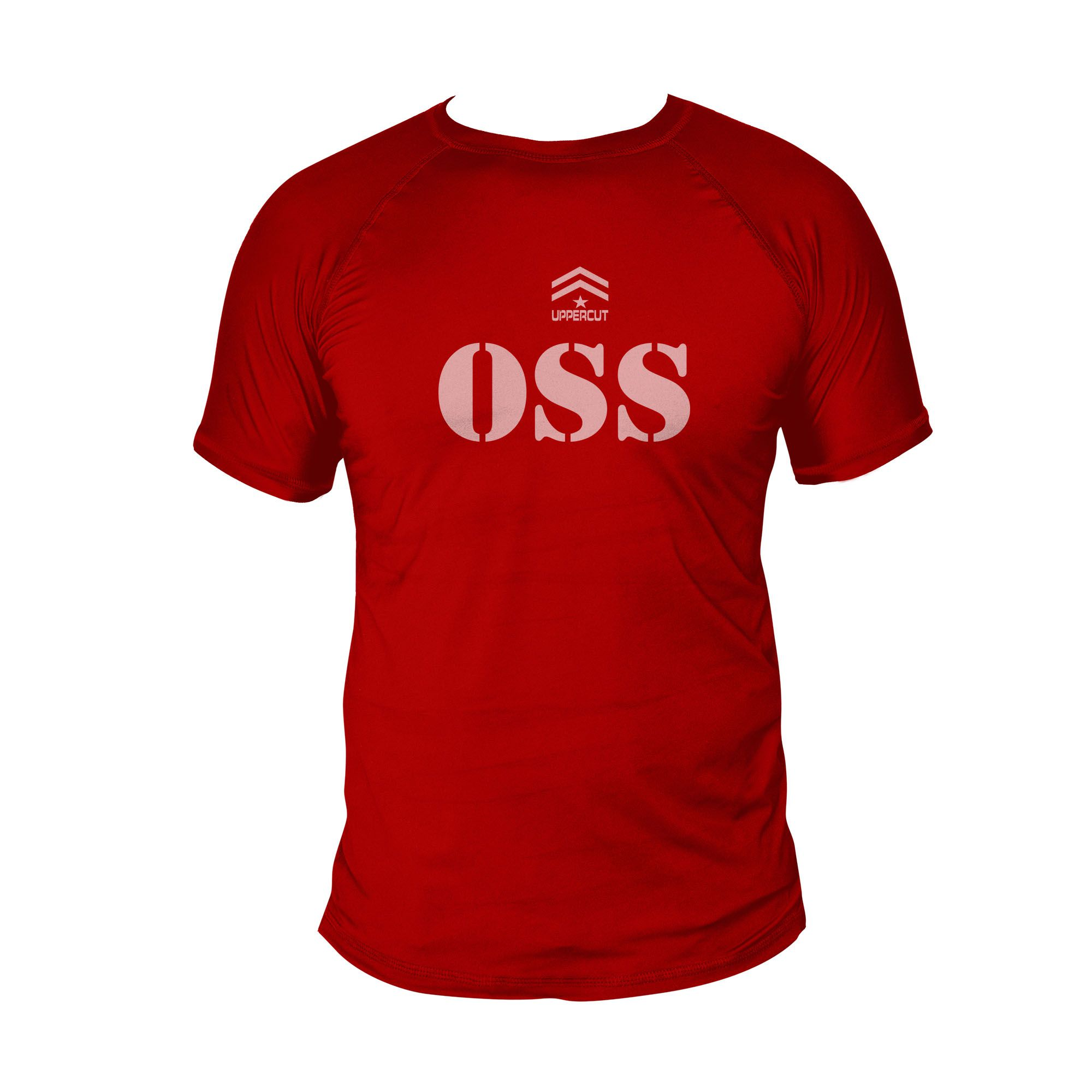 Camiseta Jiu Jitsu OSS - Treino Dry Fit UV-50+ - Vermelha