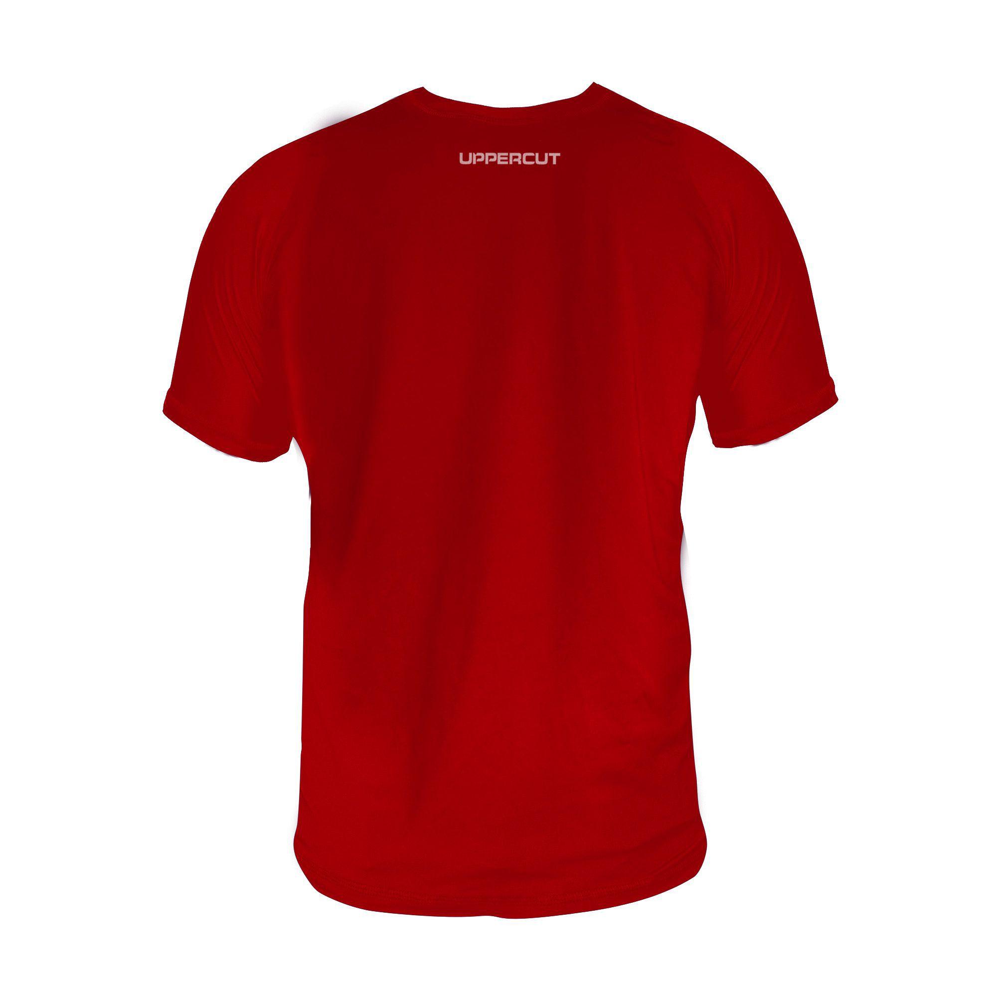 Camiseta Jiu Jitsu Leg Lock - Treino Dry Fit UV-50+ - Vermelha