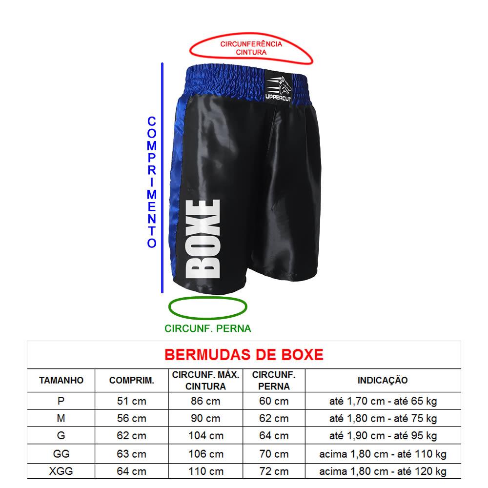 Calção Short Boxe ST-11- Preto/Azul - Uppercut