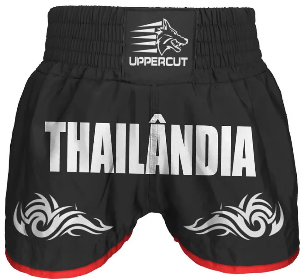 Calção Short Muay Thai Thailandia Tribal - Preto