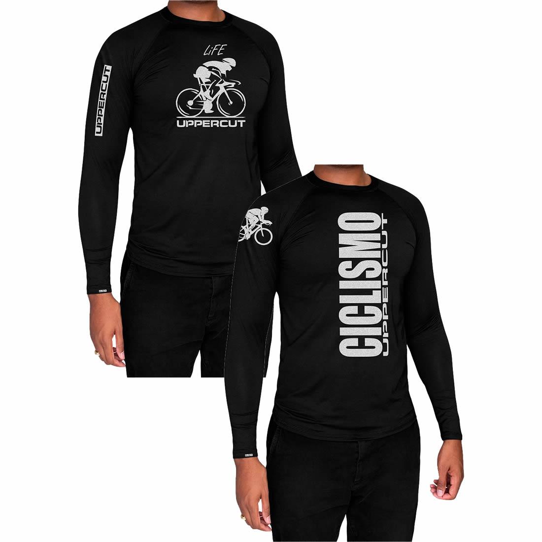 Kit 2 Camisas Proteção Solar ML - UV50+ Ciclismo Bike - Kt18